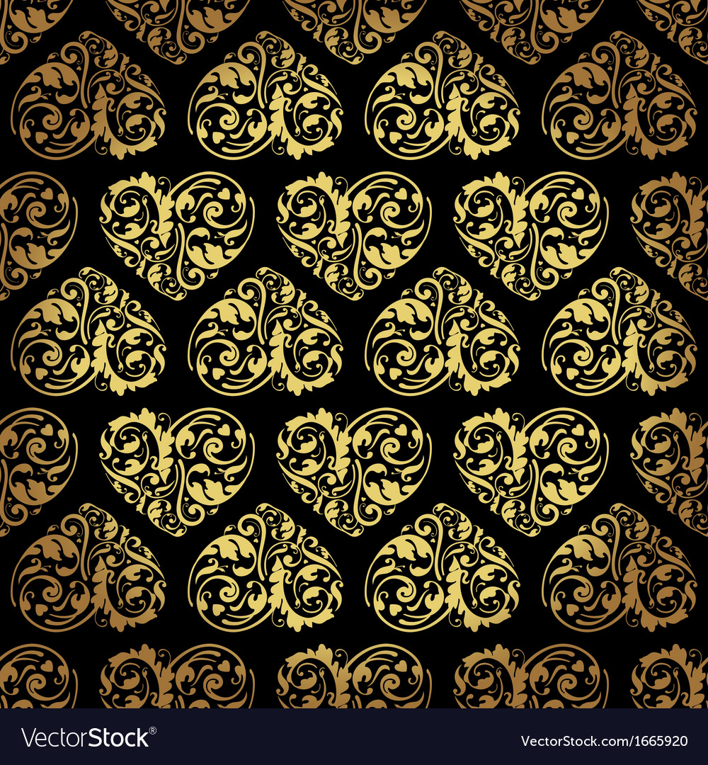 Gold and black background vector image