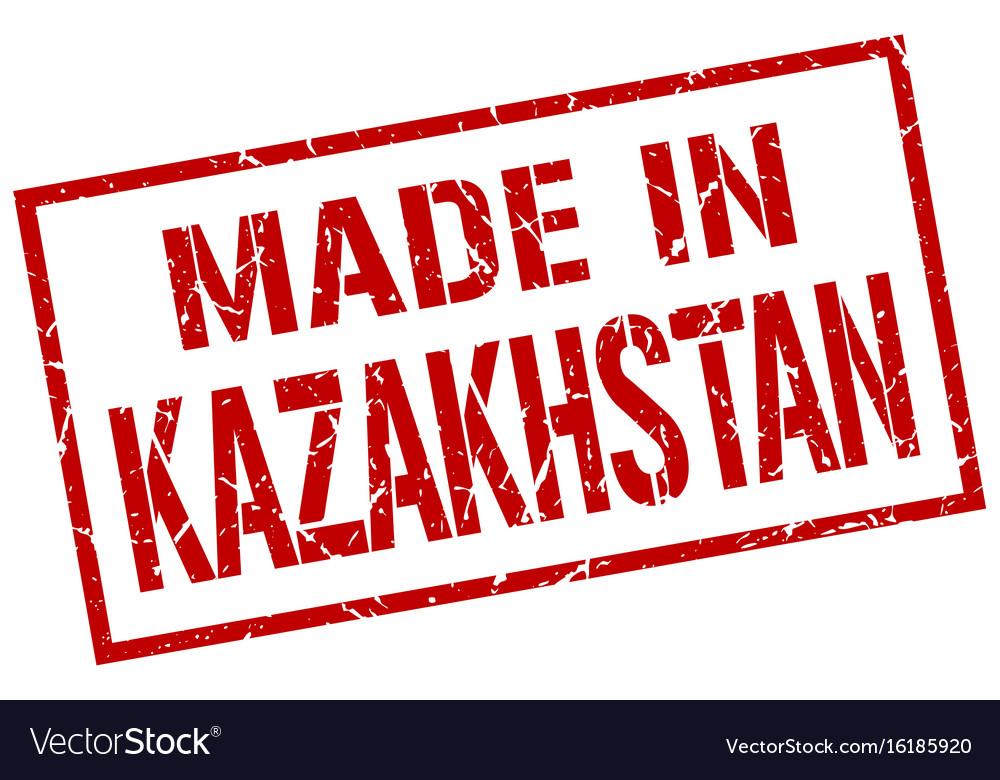 Made in kazakhstan stamp