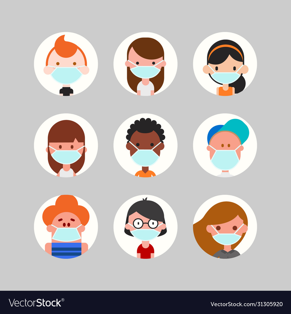 Teens and kids avatar collection cute children