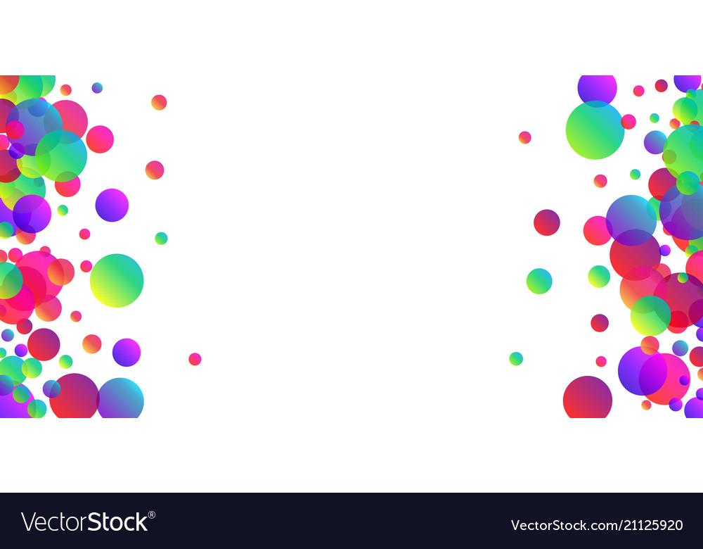 White Background With Colour Confetti