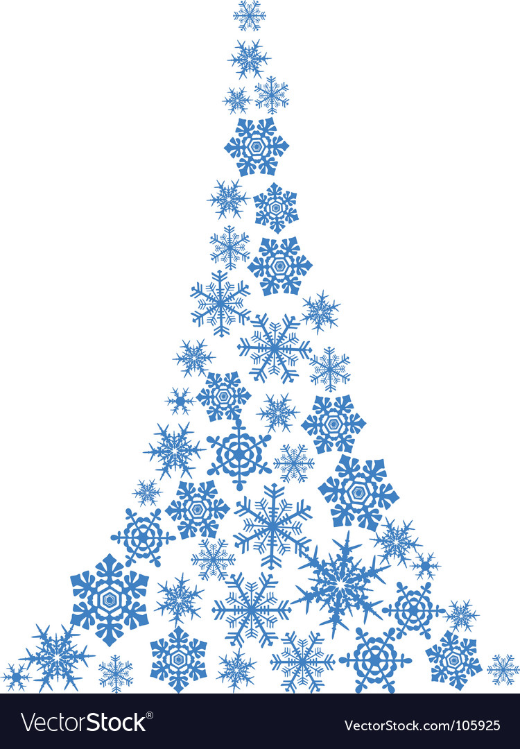 Abstract Christmas Tree Simple Drawing Royalty Free Vector