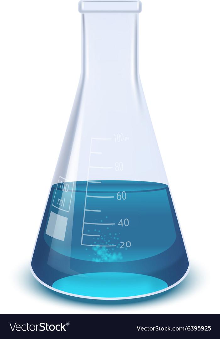 Blue flask vector image