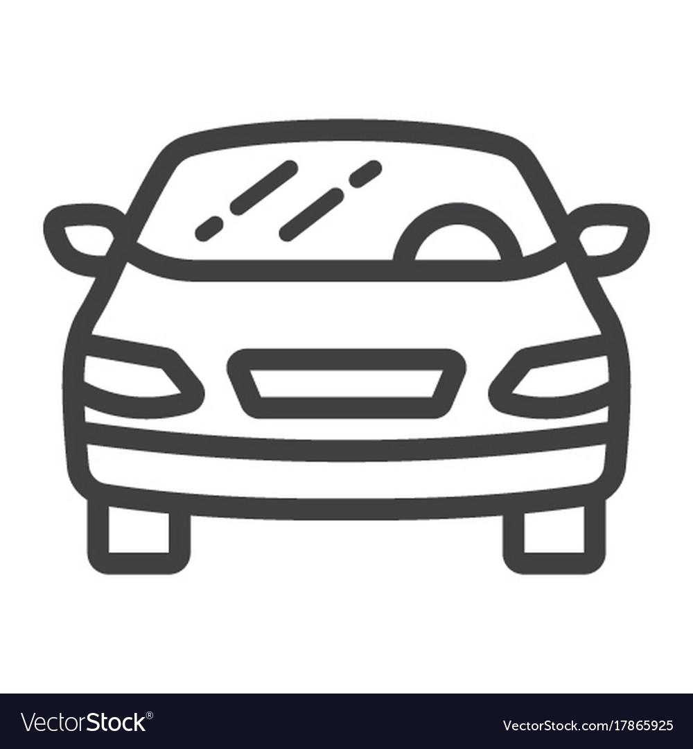 Car line icon transport and automobile sedan vector image