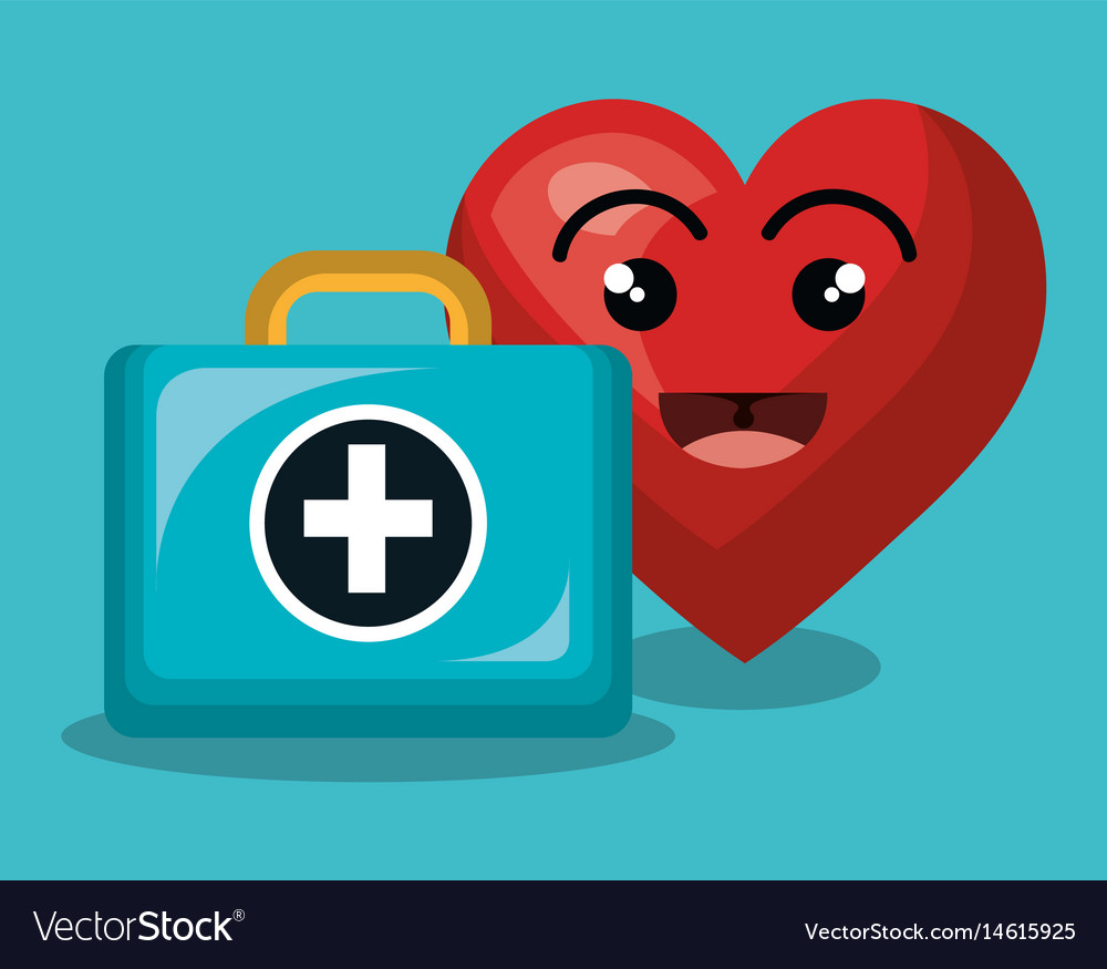 Heart character healthcare icon