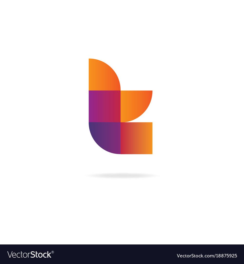 letter t logo design template elements vector image