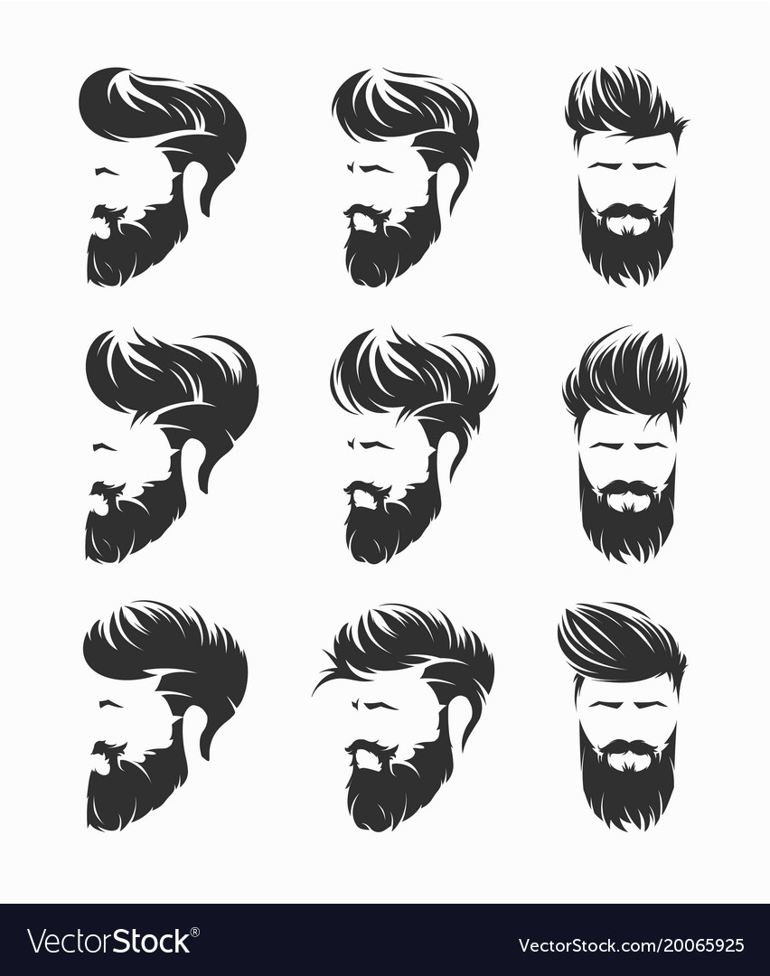 Mens hairstyles hirecut with beard mustache face