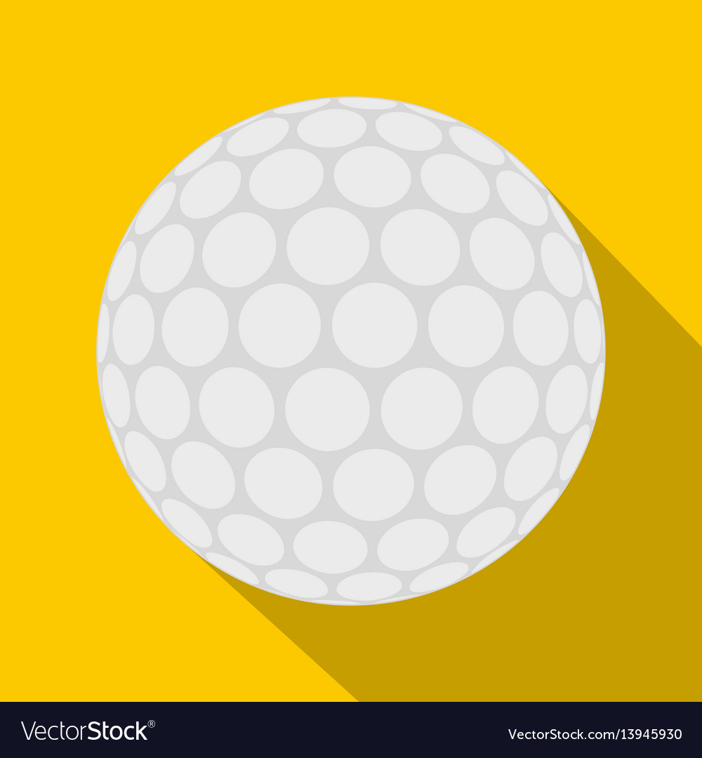Ball for playing golf icon flat style