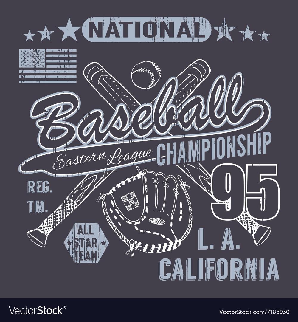 Baseball sport typography Eastern league los
