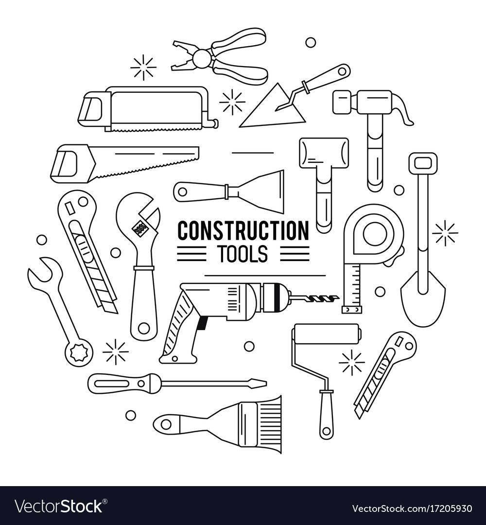 Constructions tools icon set
