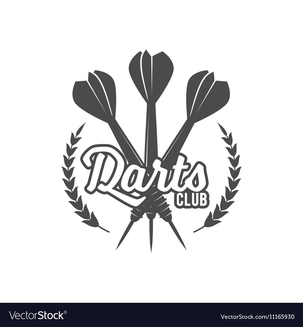 Darts label badge logo