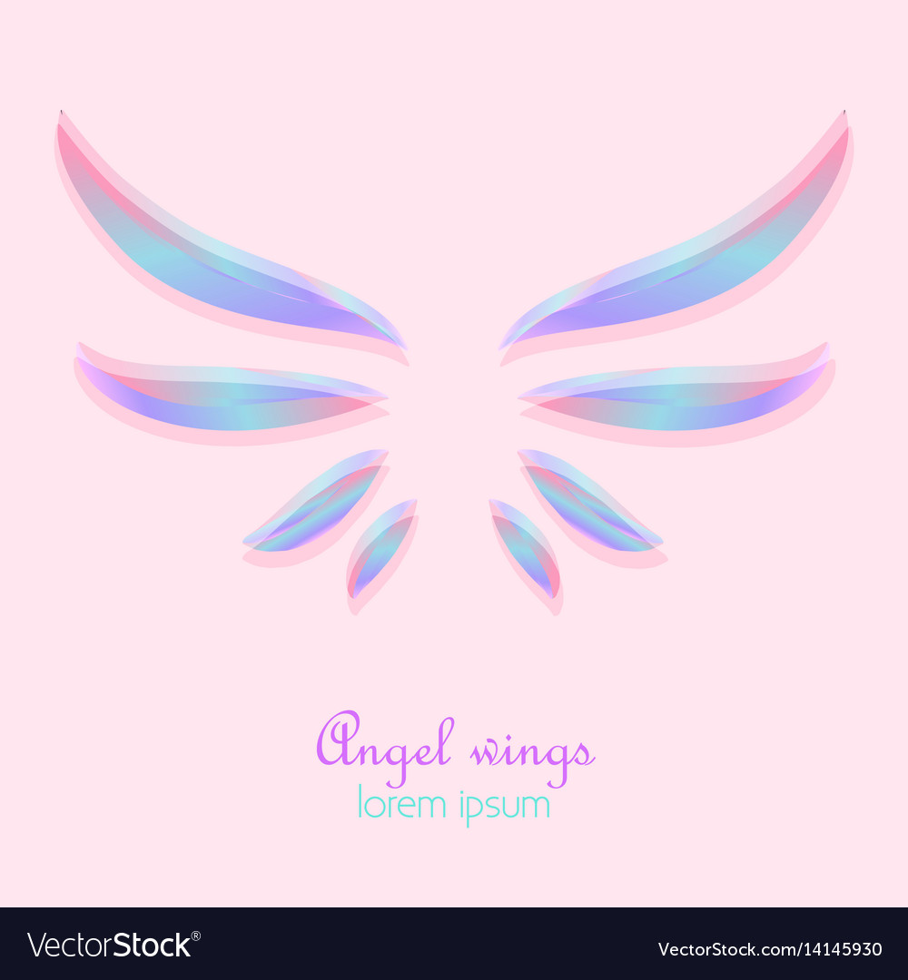Elegant Angel Wings Vector Image