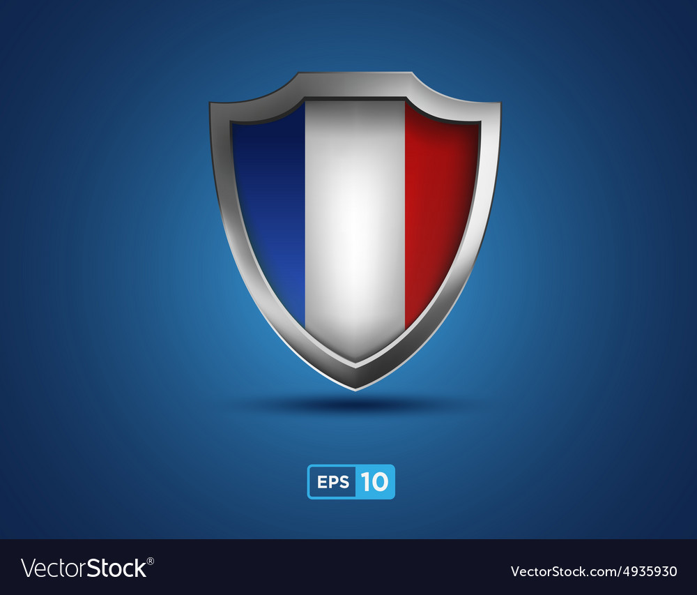 France shield on the blue background