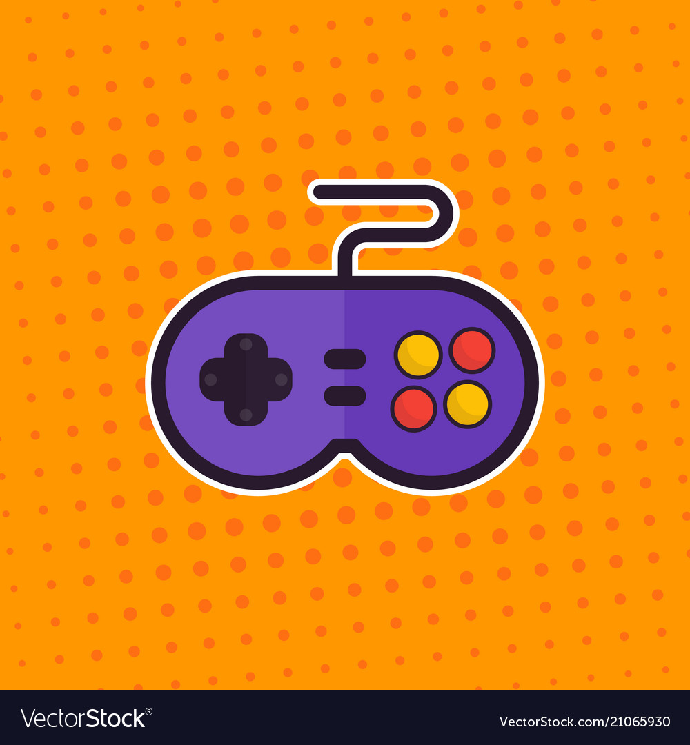 Gamepad retro game controller sticker