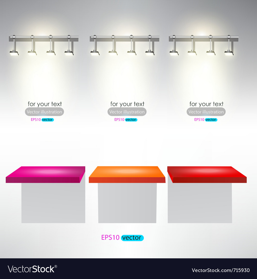 Interior for advertise products with lighting