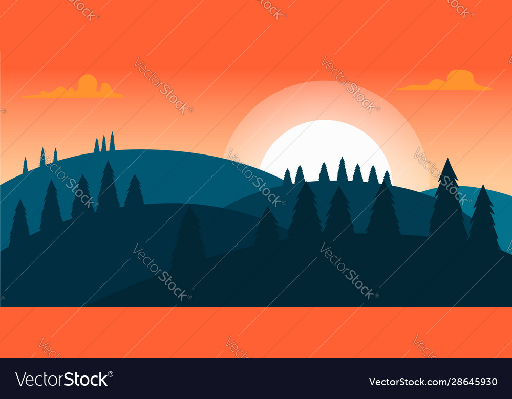 Poster template with wild mountains landscape vector