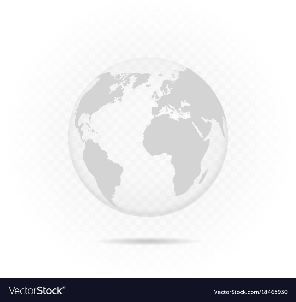Transparent globe vector image