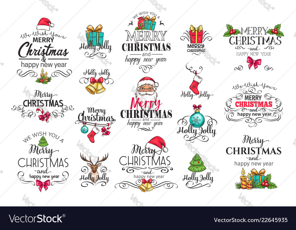 Christmas decoration labels