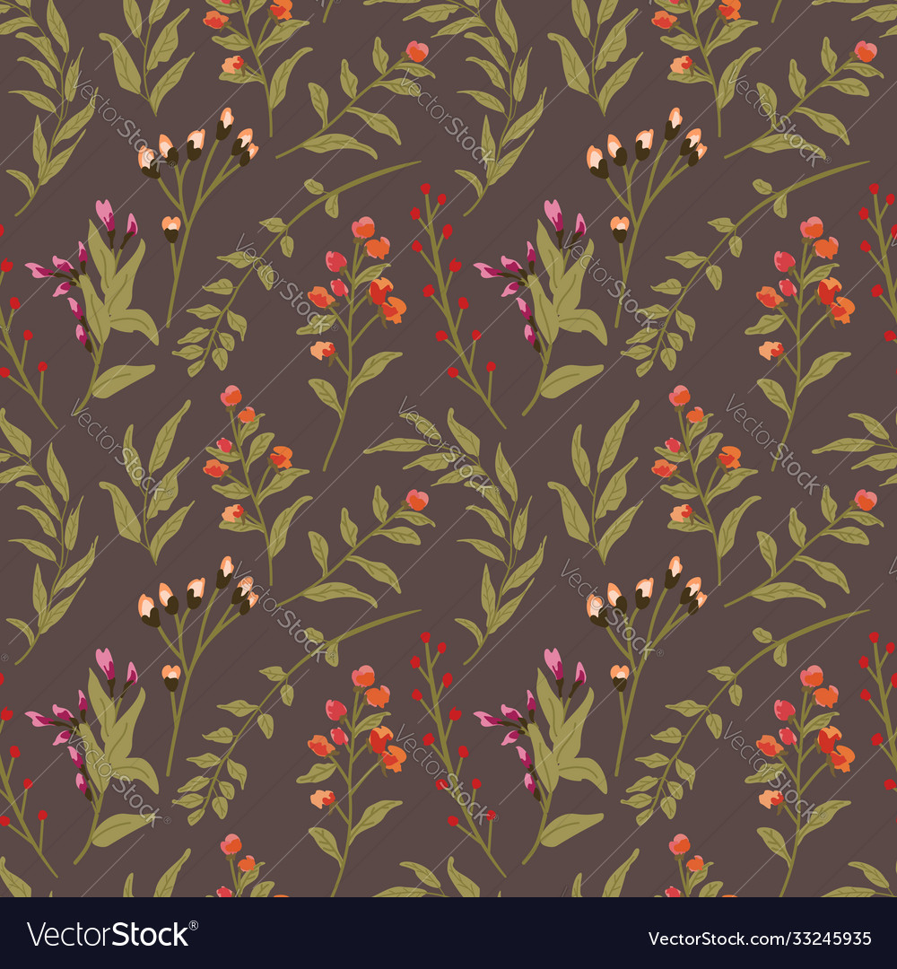 Floral seamless pattern beautiful dark background