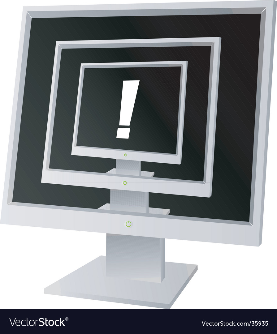 Monitor exclamation