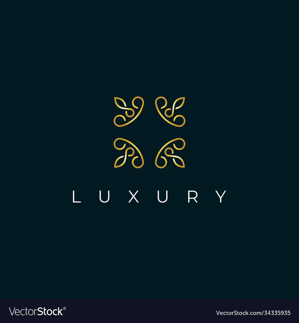 Premium abstract monogram logo