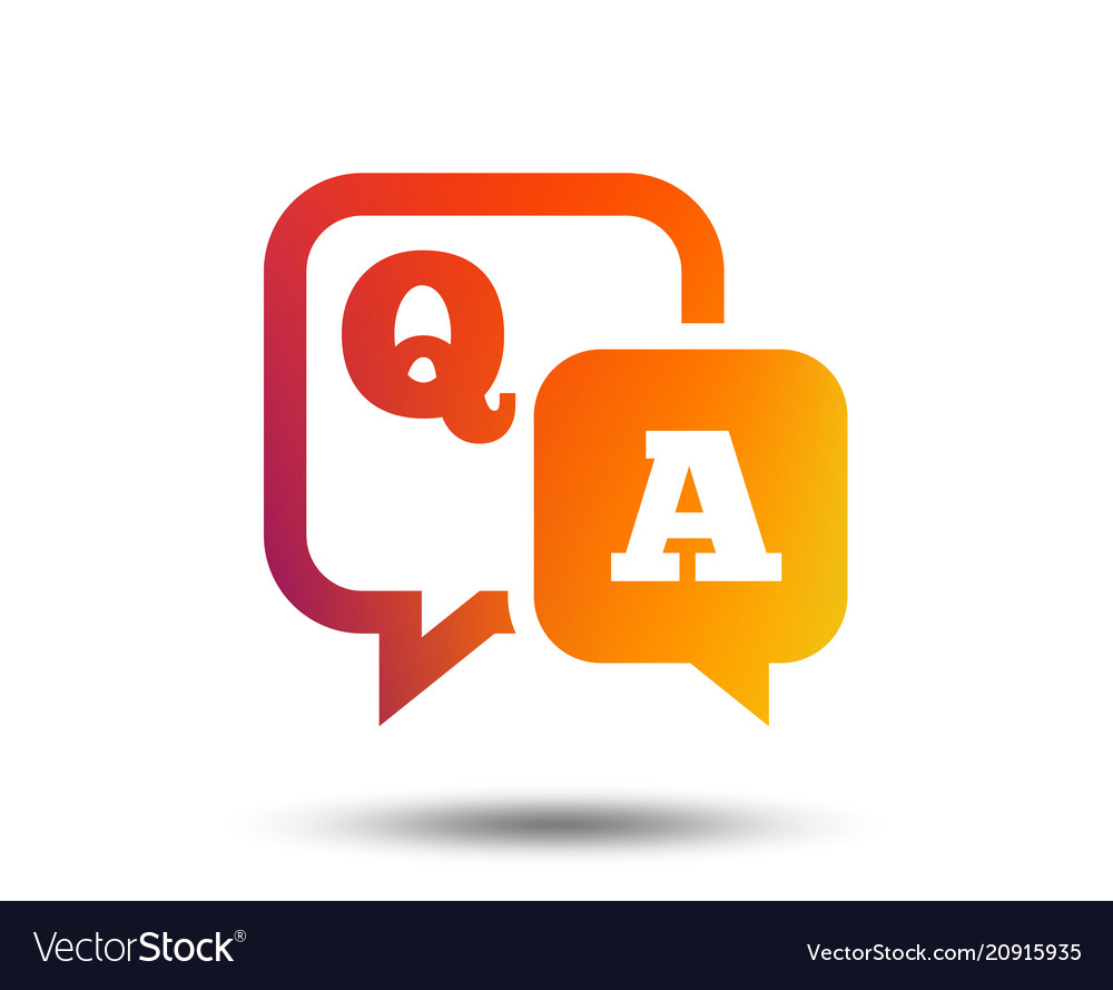 question answer sign icon qa symbol royalty free vector