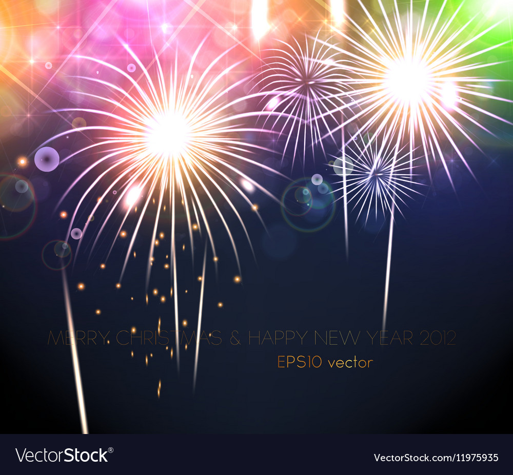 romantic new year card vector image