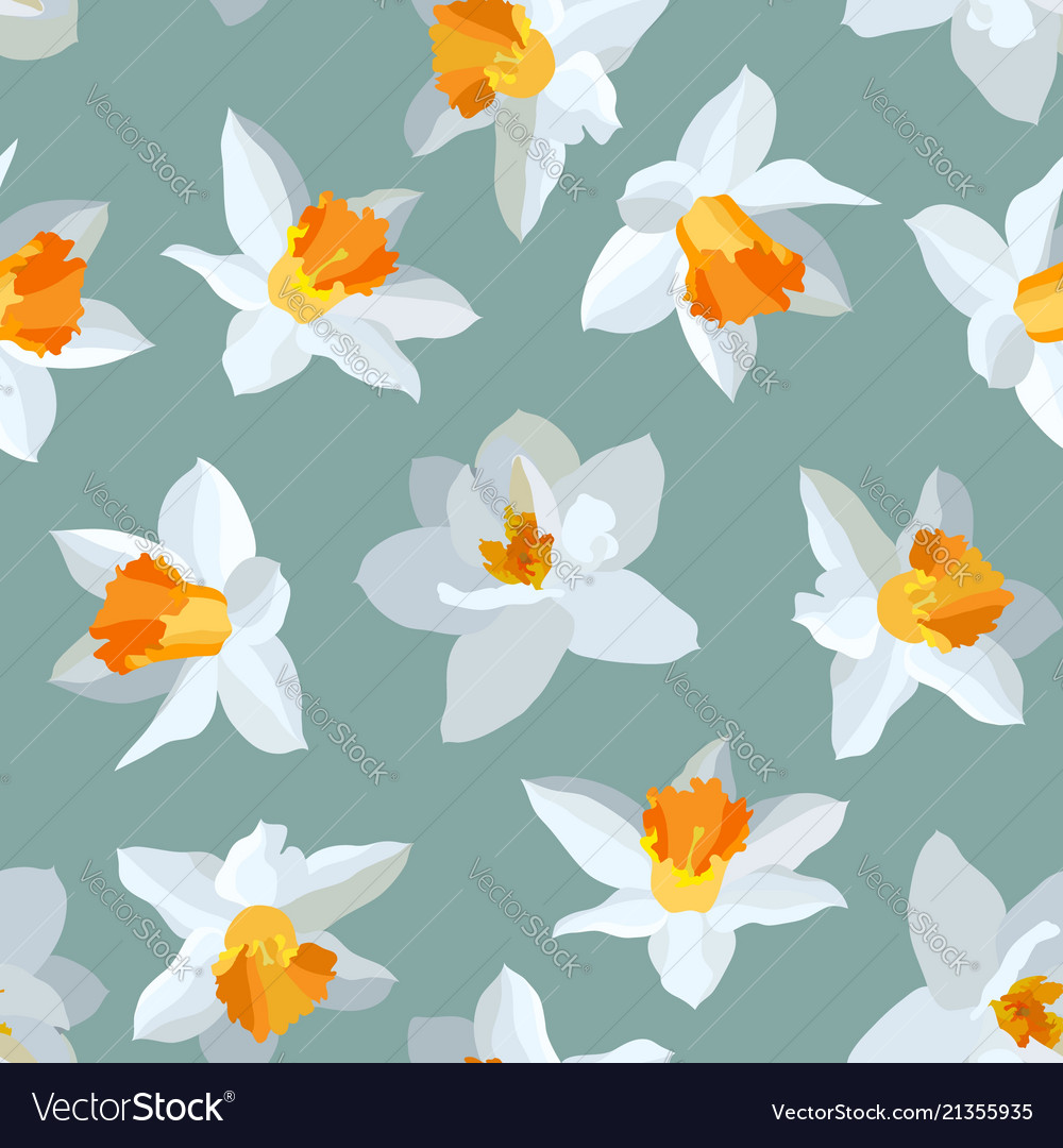 Seamless pattern of narcissus