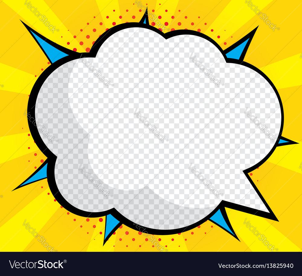 abstract blank speech bubble pop art comic book vector image rh vectorstock com comic book vectors free comic book vector tutorial