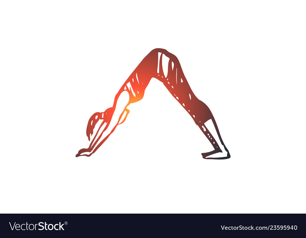 Arch yoga exercise pose healthy concept hand