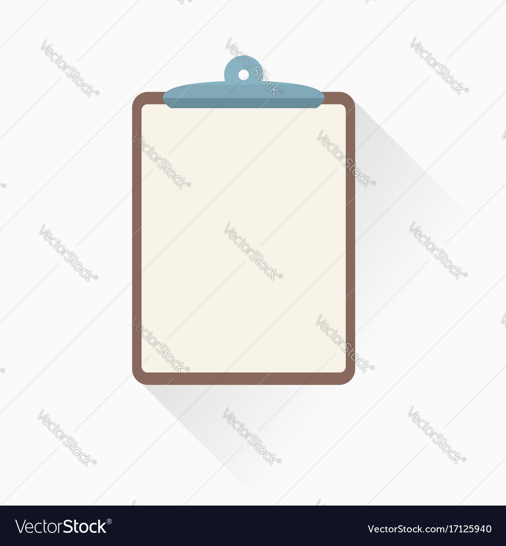 Clipboard icon in flat style