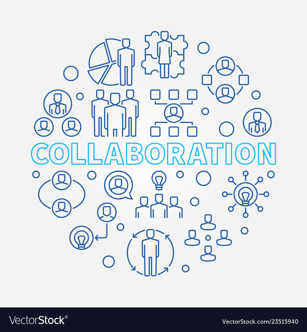 Collaboration round in outline