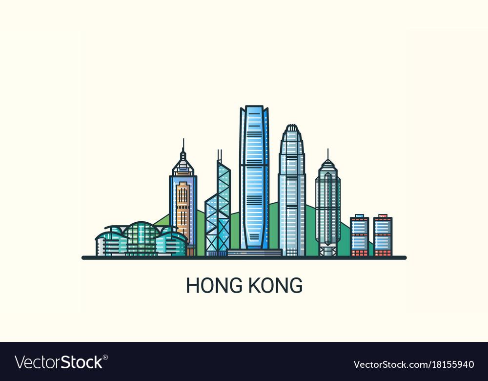 Flat line hong kong banner