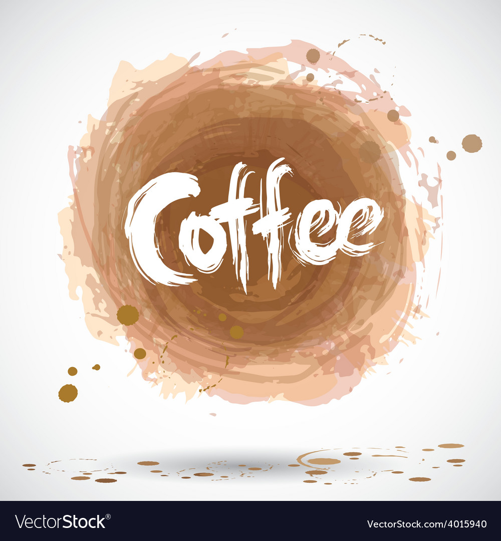 Grunge background with bright brown splash Coffee