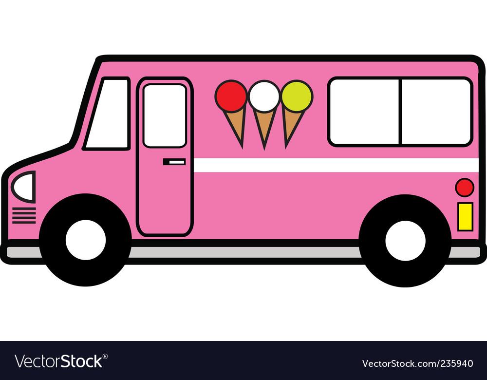 ice cream truck royalty free vector image vectorstock rh vectorstock com