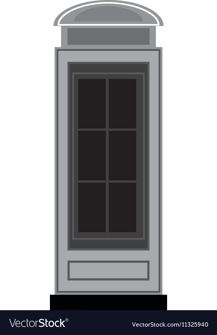 Telephone cab england isolated icon vector image
