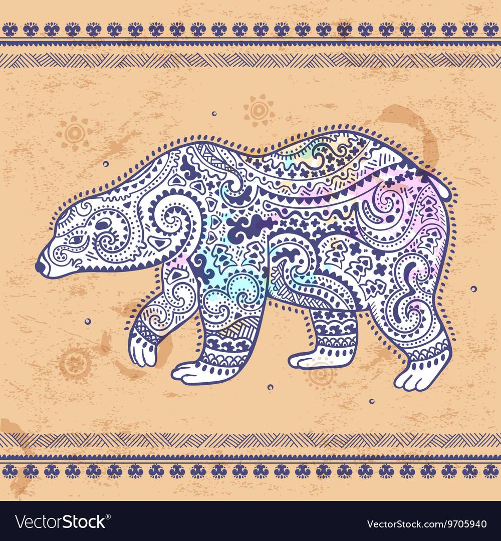 Tribal hand drawn totem bear