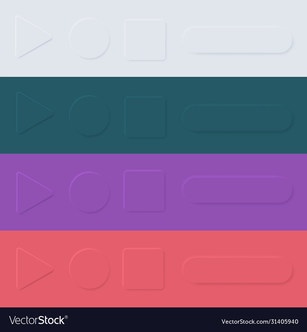 User interface elements for mobile app ui buttons