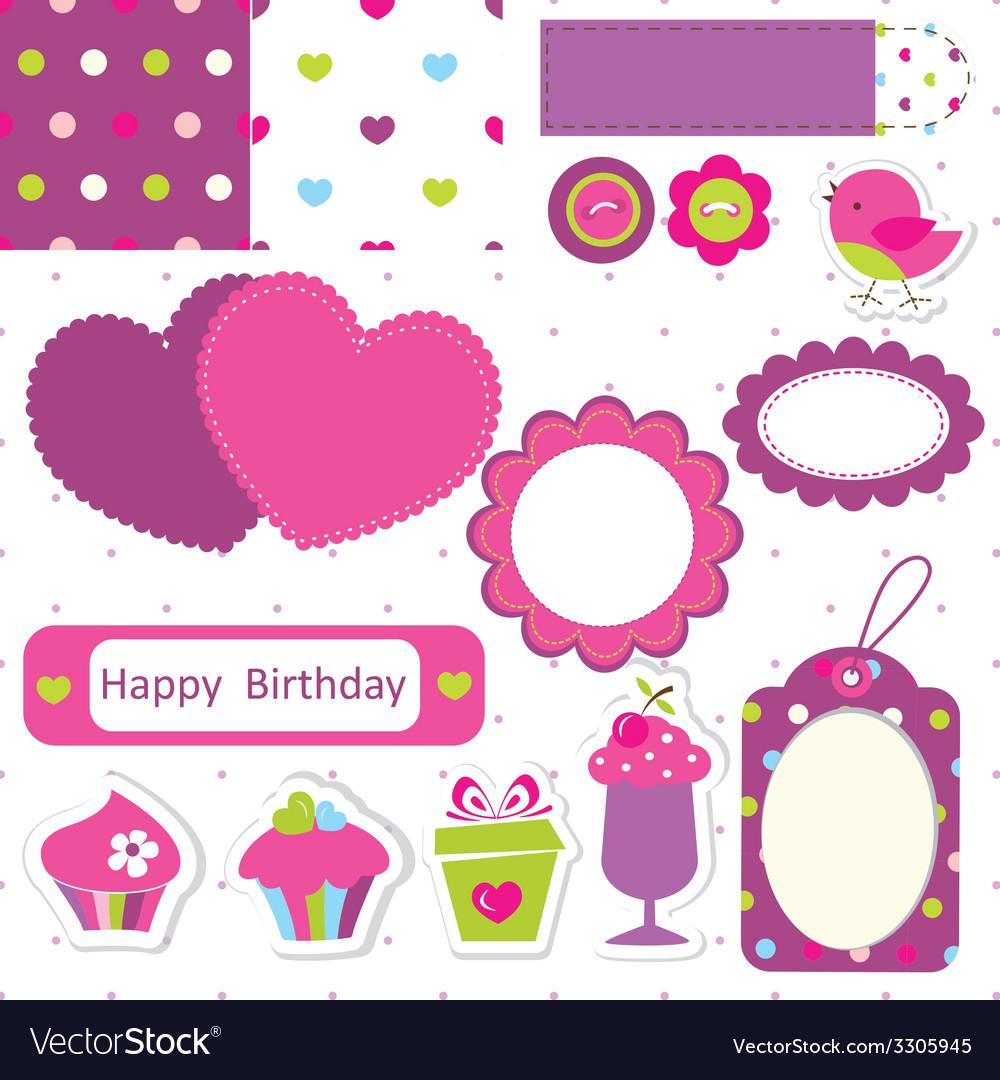 Заготовка для скрапбукинга открытки с днем рождения