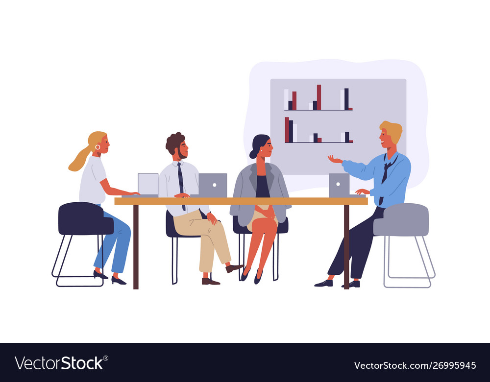 Business people coworking space flat