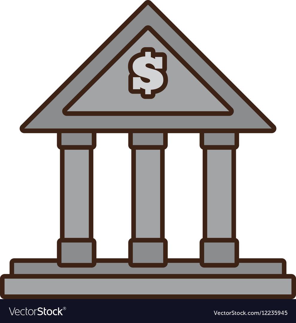cartoon building bank money finance royalty free vector rh vectorstock com vector bank with change counter vector bank with change counter