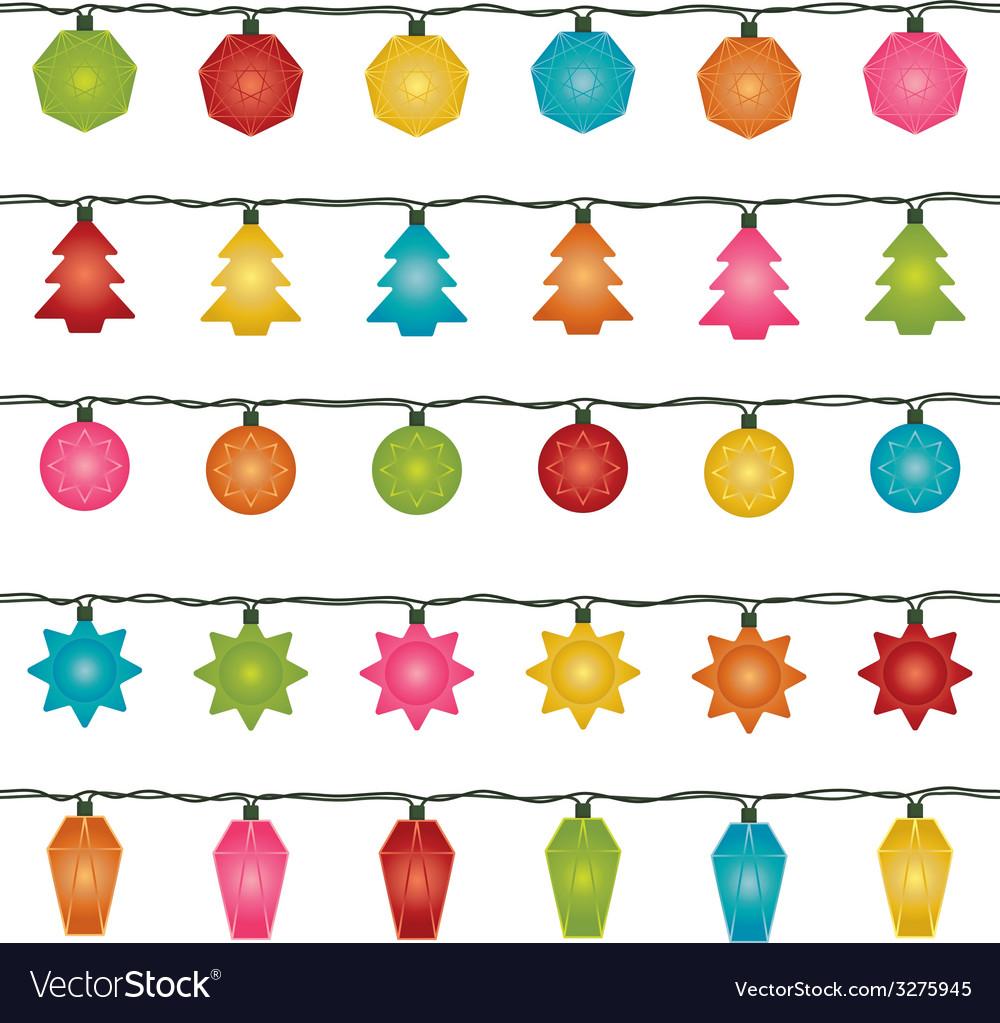 Christmas lights Royalty Free Vector Image - VectorStock
