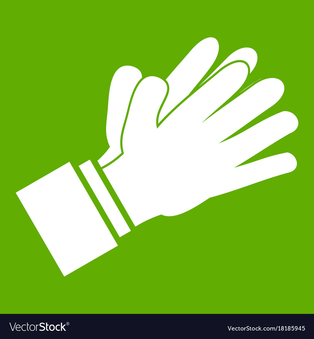 Clapping applauding hands icon green