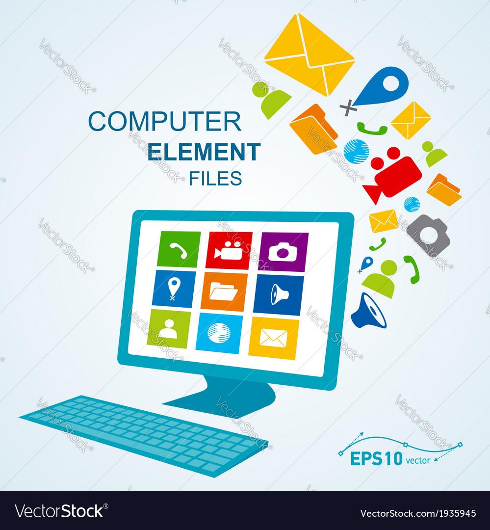 Computer display keyboard icon