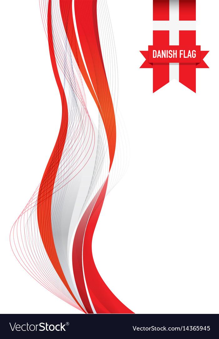 Denmark flag background vector image