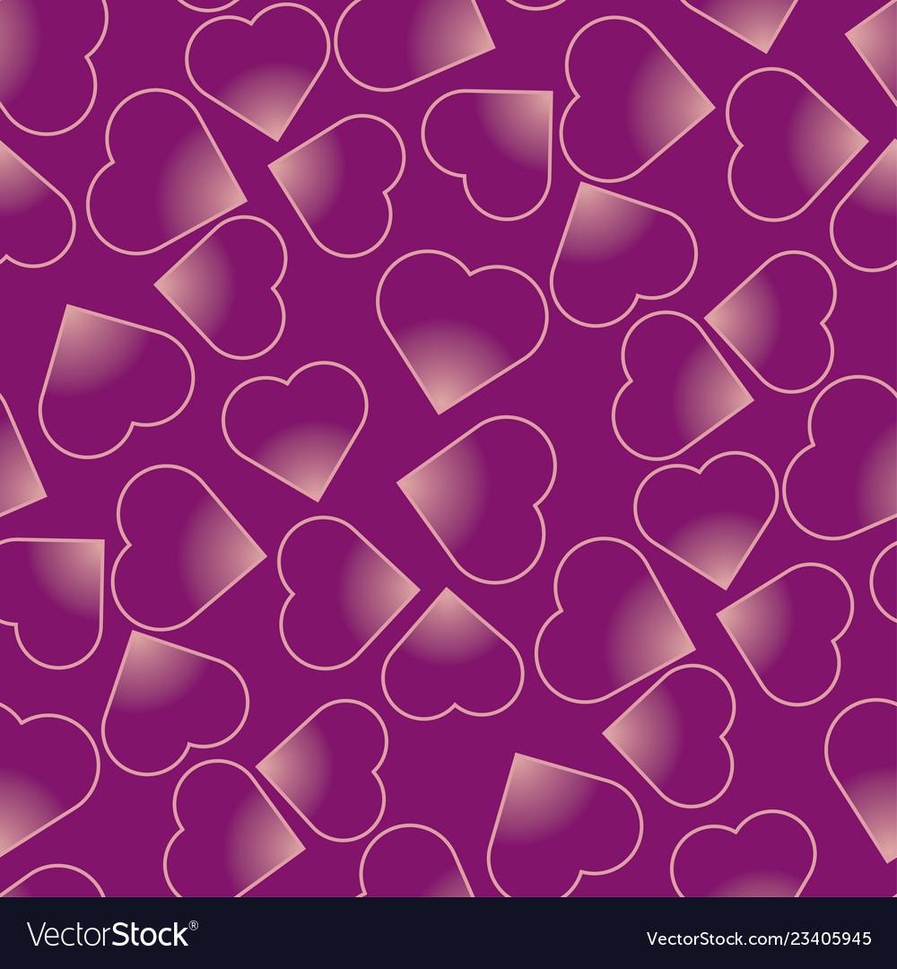 Hearts purple seamless pattern