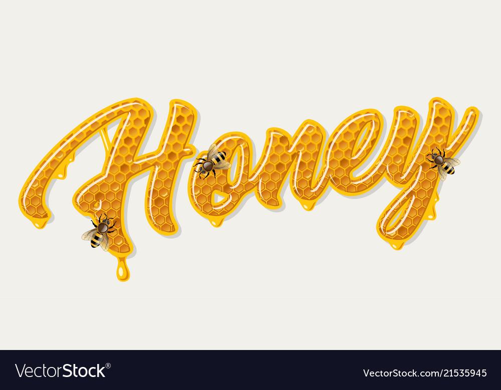 Honey comb lettering