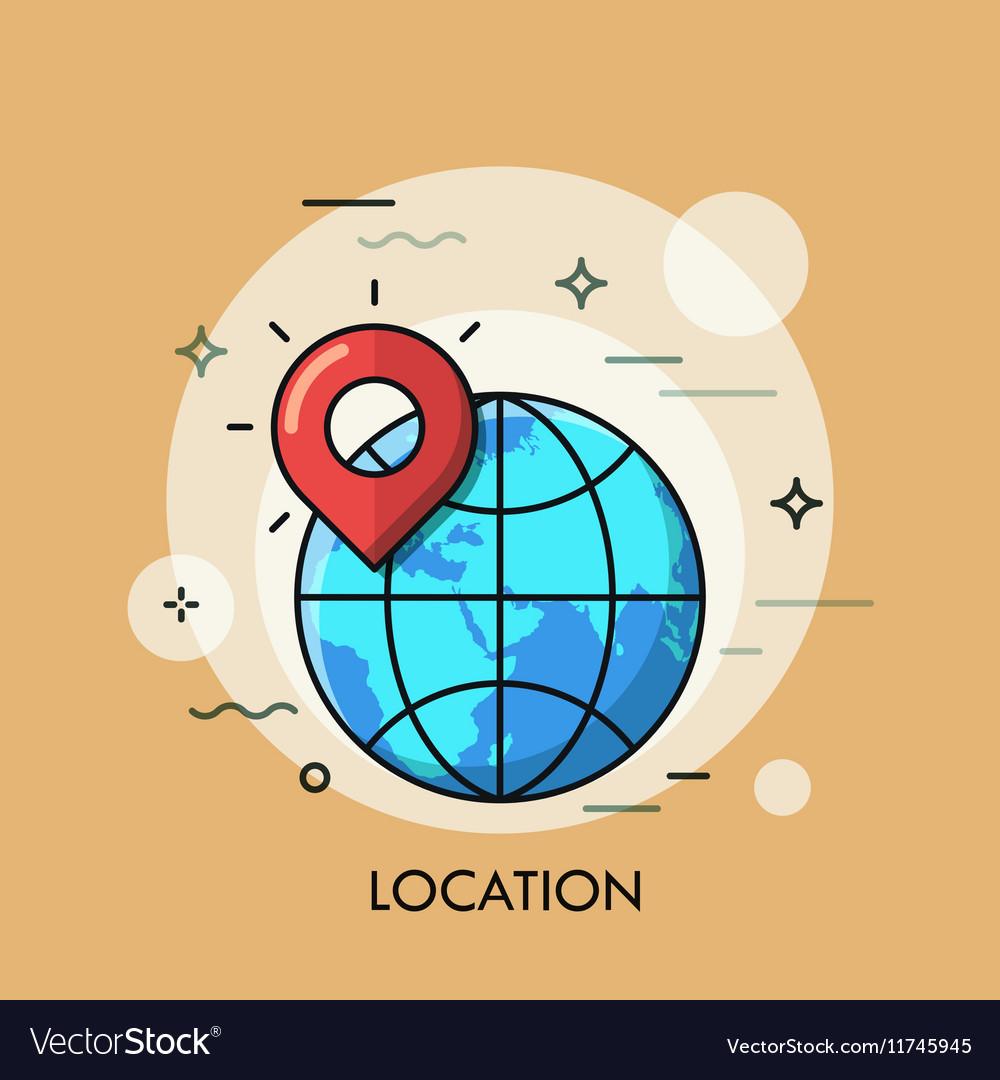 Location Icon logo line flat design
