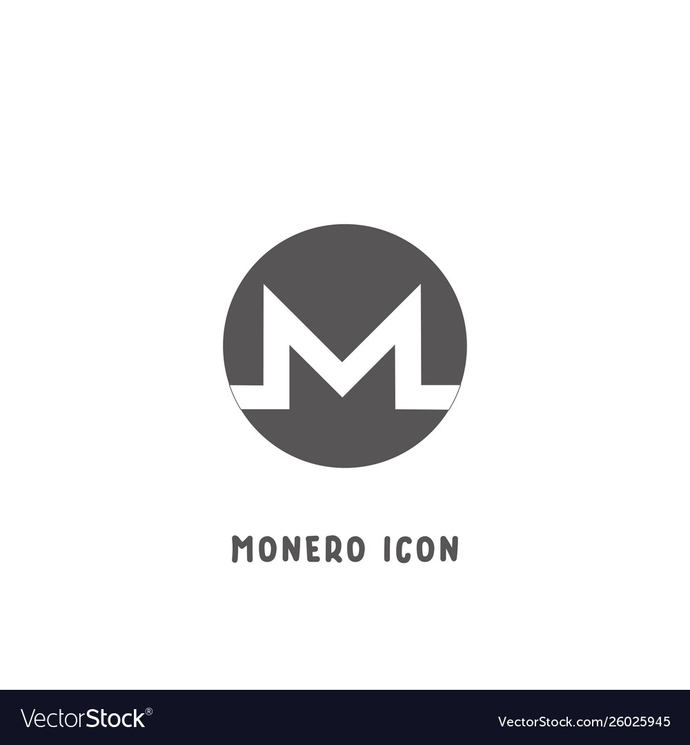 Monero cryptocurrency icon simple flat style