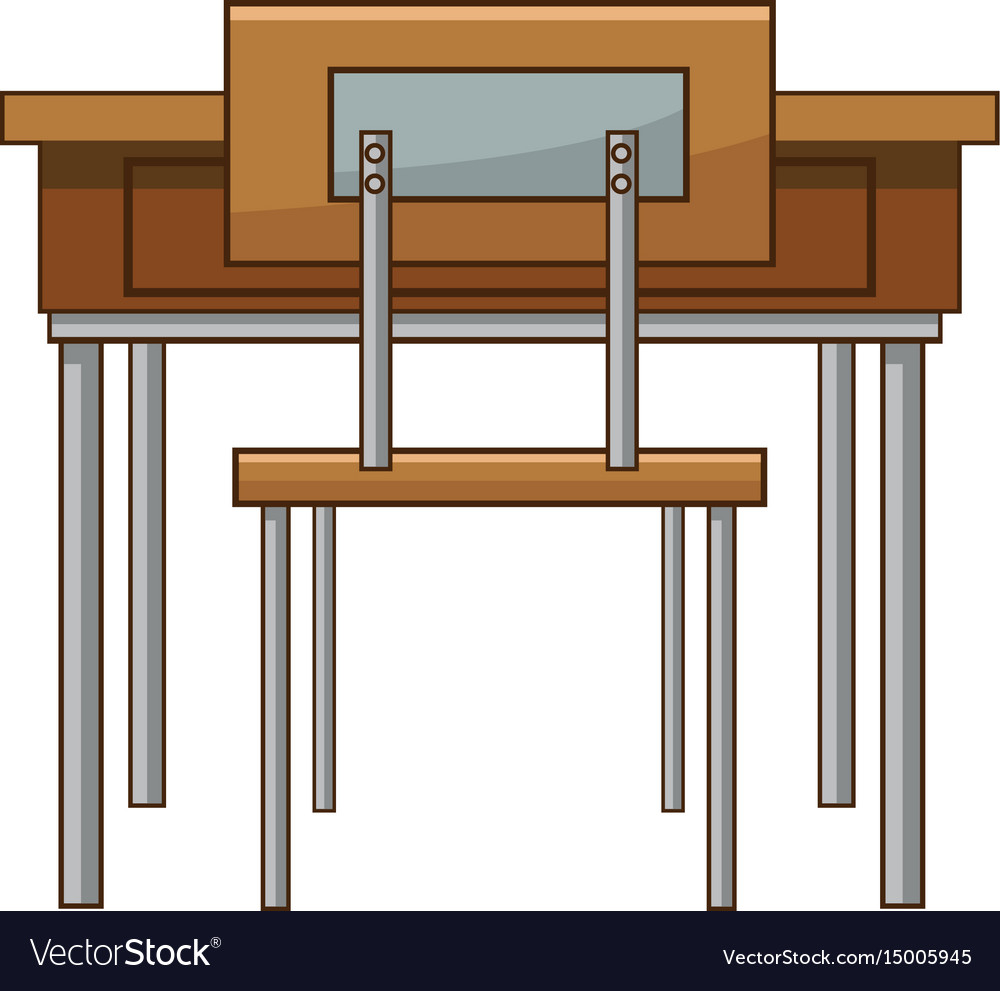 School Table And Chair Of Clroom Vector Image