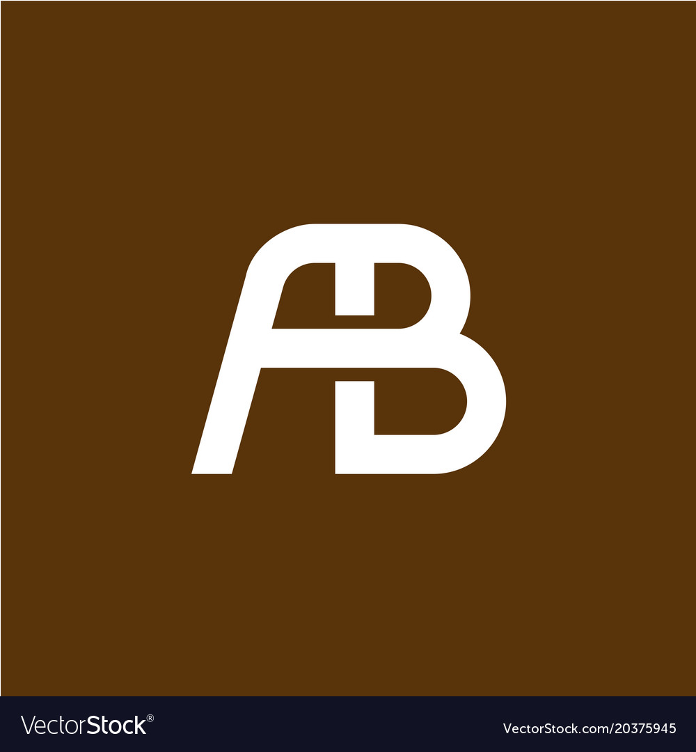 Two letters a and b ligature logo
